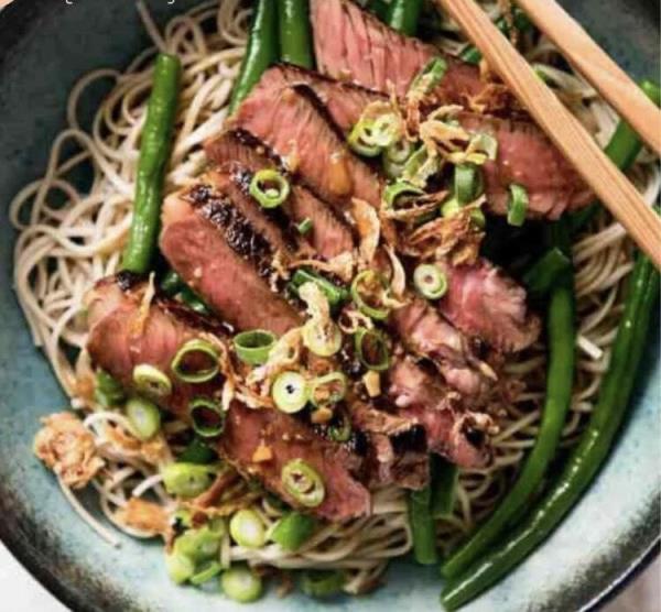3道饱足感低脂餐:香煎牛排荞麦面/无米豆腐黄金炒饭/栉瓜鸡柳面